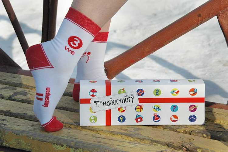 Проект НаБосуНогу - набор женских носков на неделю