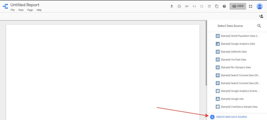 Отчеты в Google Data Studio - первый источник данных